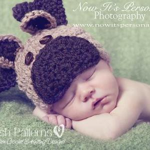Crochet Hat Pattern Baby Moose Rein..