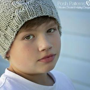 Knitting Pattern - Knit Cable Hat -..