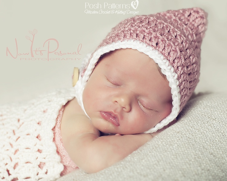Crochet Hat Pattern Pixie Hat Chin Strap Pixie Hat Pattern Newborn ...
