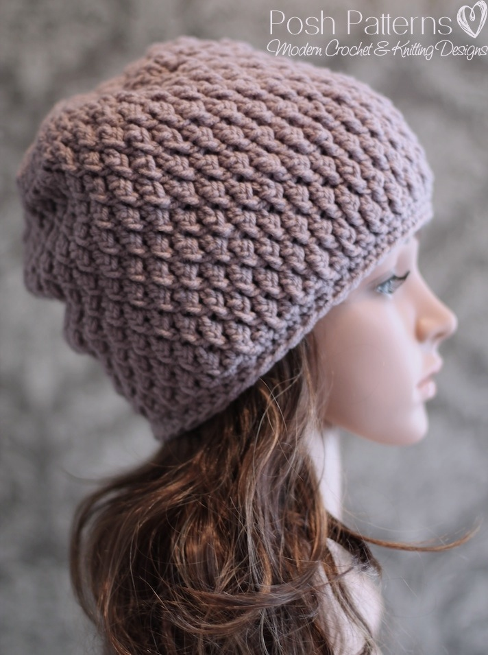 Crochet Hat Pattern - Faux Cable Crochet Beanie Crochet Pattern PDF 237 -  Newborn to Adult f87f9111314