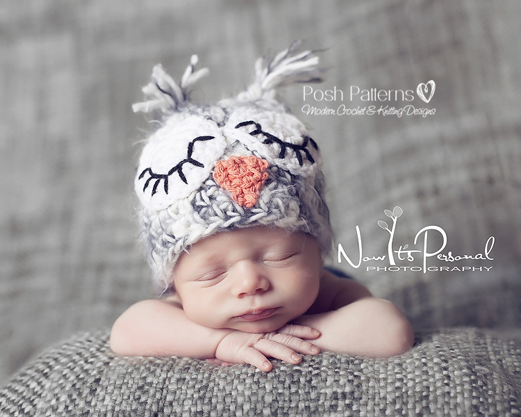 Crochet Hat Pattern Owl Baby Hat Crochet Pattern Pdf 109 Newborn