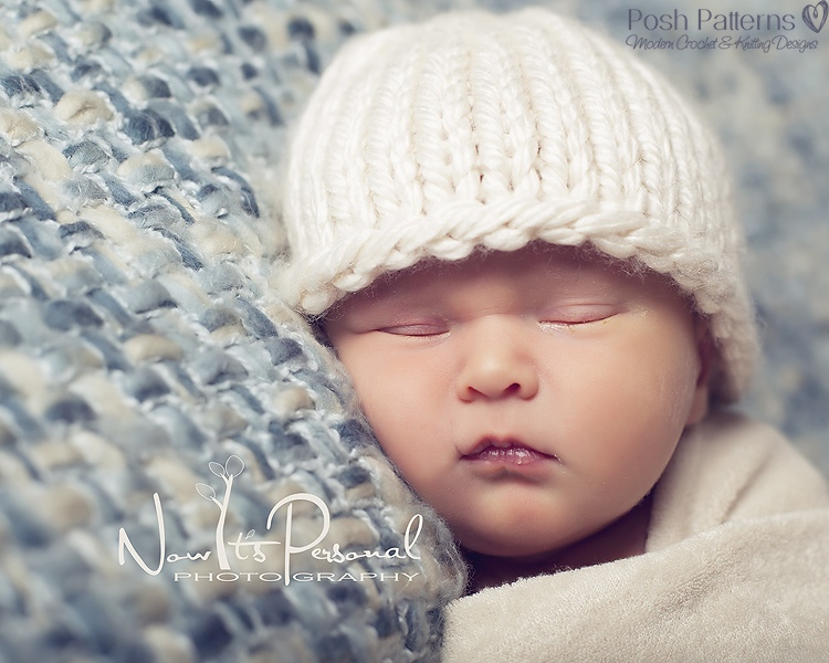 Knitting Pattern Easy Knit Baby Beanie Hat Pdf 227 Includes 6