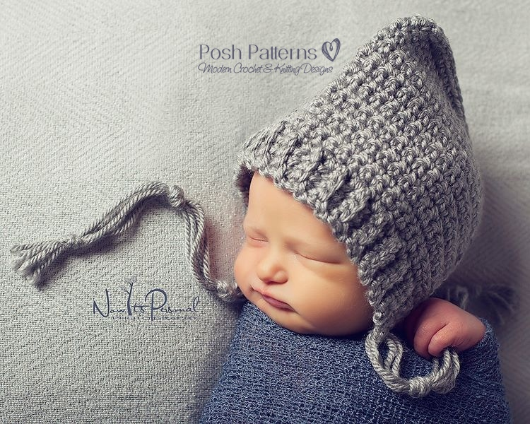 Crochet Hat Pattern Easy & Elegant Pixie Hat Pattern PDF 334 Newborn ...