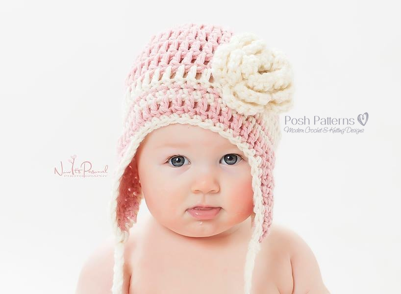 Crochet Hat Pattern Easy Beginner Earflap Hat Crochet Pattern Pdf
