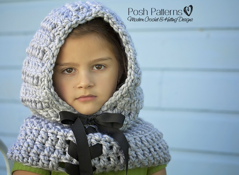Hooded Cowl Crochet Pattern Crochet Cowl Pattern Includes Baby