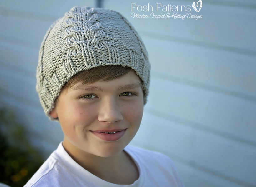 Knitting Pattern - Knit Cable Hat - Includes Baby, Toddler, Child ...