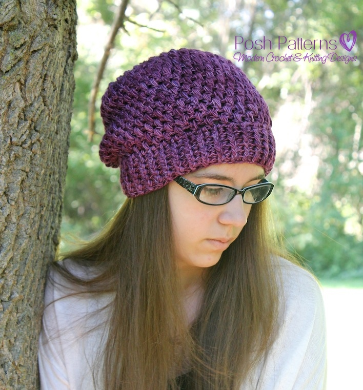 Crochet Pattern - Crochet Slouchy Hat Pattern - Crochet Hat Pattern -  Includes Toddler 25e630b8f79