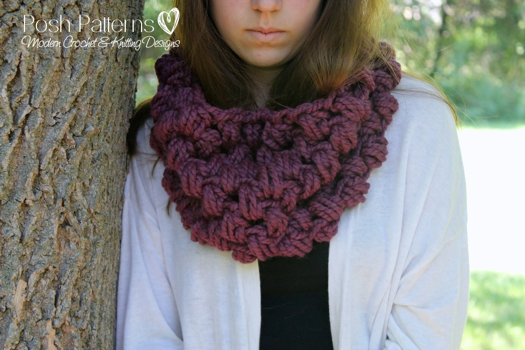 Crochet Pattern - Crochet Cowl Pattern - Cowl Crochet Pattern - Includes Toddler, Child, Adult Sizes - PDF 380