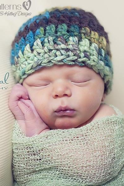 Crochet Hat Pattern Simple Easy Beginner Beanie Crochet Pattern Newborn to Adult Sizes PDF 179