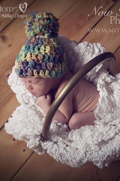 Crochet Hat Pattern Easy Beginner Handspun Beanie Crochet Pattern PDF 225 Newborn to Adult Sizes