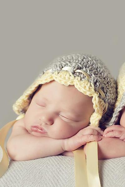 Crochet Hat Pattern Vintage Baby Bonnet Pixie Hat Crochet Pattern Newborn to Adult Sizes PDF 149