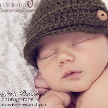 Crochet Hat Pattern Newsboy Hat Crochet Pattern PDF 197 Newborn to Adult Sizes