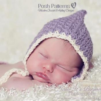 Crochet Hat Pattern Vintage Baby Bonnet Pixie Hat Crochet Pattern PDF 266 Newborn to Adult Sizes