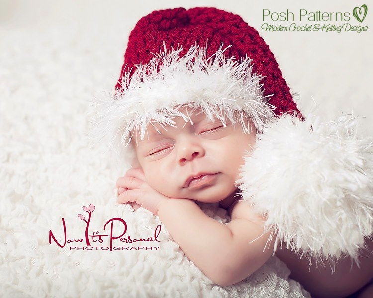 Crochet Hat Pattern Stocking Santa Hat Crochet Pattern Pdf 223